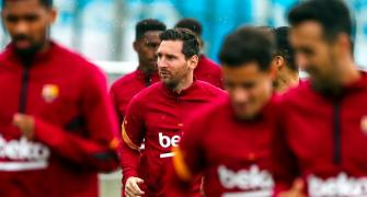 SEE: Messi in good spirits during Barca training