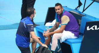 Kyrgios loses temper, match at Murray River Open