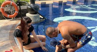 Hardik Pandya Jr too cool for the pool