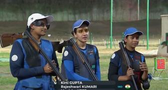 ISSF World Cup: Silver for Indian women's trap team