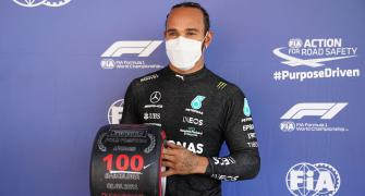F1: Hamilton celebrates his 100th pole in Spain