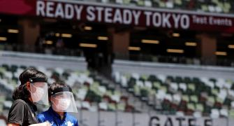 Gatlin wins at Tokyo Olympic Stadium test event
