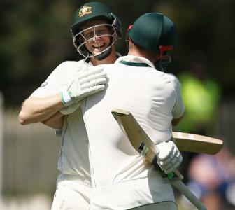 Hobart Test: Voges, Marsh pile on runs against West Indies