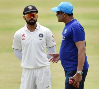 Coach Kumble heaps praise on Kohli, Ashwin