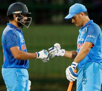 PHOTOS: Rohit, Dhoni lift India to series-clinching win