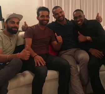 PHOTOS: Team India's 'chill night' with DJ Bravo in Trinidad