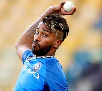 On road to recovery: Hardik back in the nets