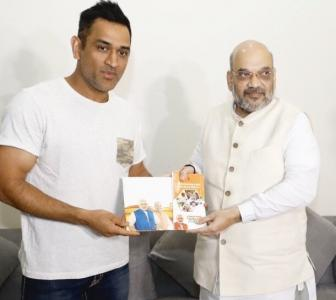 PHOTOS: Amit Shah meets MS Dhoni