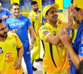 WATCH! CSK doesn't spare anyone from cake facewash