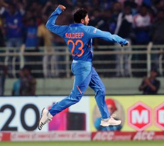 Kuldeep first Indian to take two ODI hat tricks