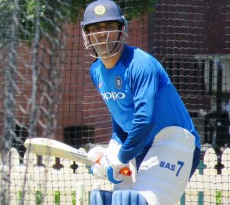 PIX: Focus shifts to ODIs as Dhoni, Dhawan hit the nets at SCG