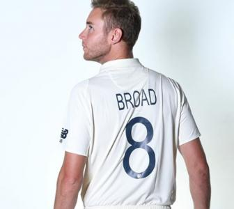 Stuart Broad shares new Ashes jersey look
