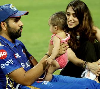 Cuteness Alert! Rohit bonds with daughter Samaira