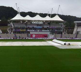 Southampton Test: Rain washes out morning session