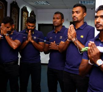 PHOTOS: Sri Lanka touch down in Guwahati ahead of T20s