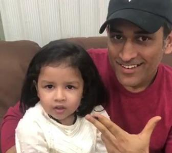 PIX: When Dhoni plays doting dad