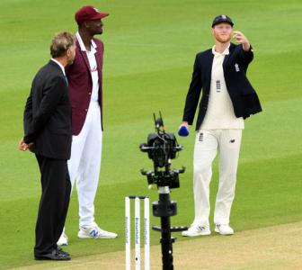 Cricket is back as England opt to bat in 1st WI Test