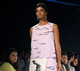 Hands up! Quirky, funky designs at LFW