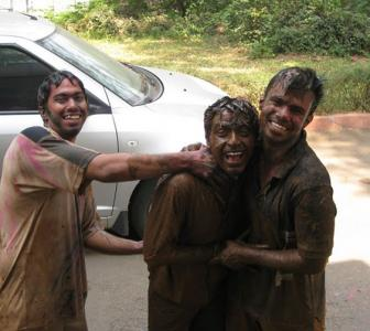 Holi pics: When we made a swimming pool of water and mud