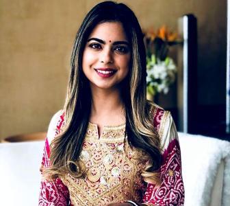 Who dresses bride to-be Isha Ambani the best?
