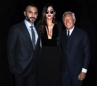 Cleavage-baring Sonam goes sexy for Armani