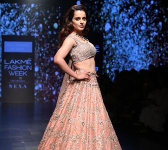 Kangana's midriff baring lehenga is too hot to handle