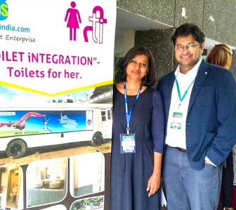 Ulka and Rajeev convert buses into ladies's toilets