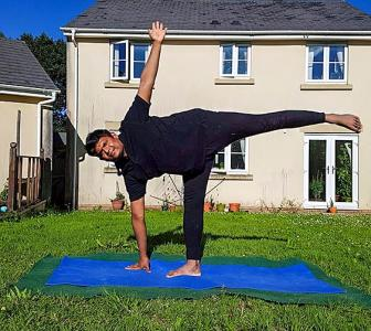 'My favourite yoga pose is ardha chandrasana'