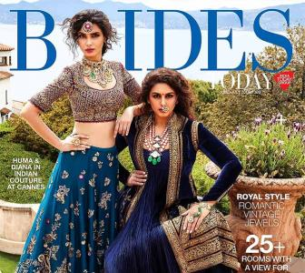 Badass brides! Huma, Diana look pretty in blue