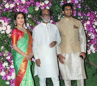Rajini, Ratan Tata, Tony Blair at Akash Ambani's wedding