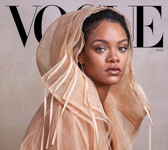 Rihanna stuns in a sheer coat on mag cover