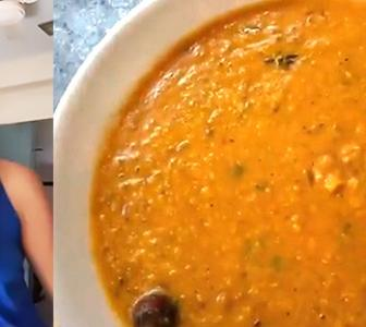 SEE: Supermodel Candice makes dal fry at home