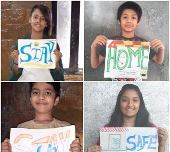 Creativity in lockdown: Kids share inspiring messages