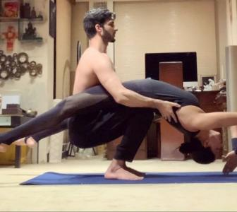 Couple Goals! Sushmita's HOT yoga with Rohman