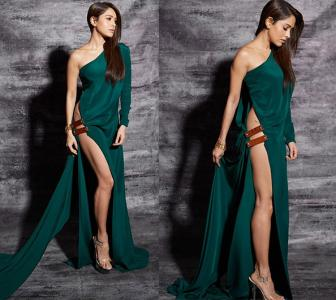 Oomphalicious! Nushrat wore the SEXIEST high-slit ever
