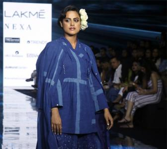 Pics: Neha Mahajan scorches the ramp in blue