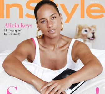 Alicia stuns in white on mag cover