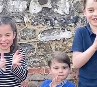 SEE: Royal children clap and cheer health heroes