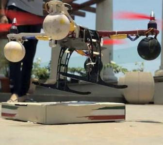 Mumbai eatery delivers pizza using a drone!