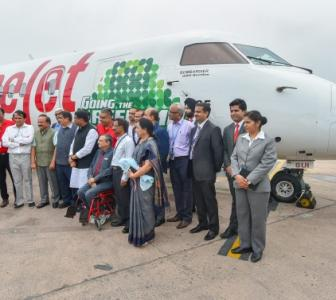 Spicejet flies into history books with India's first biojet-fuel run flight