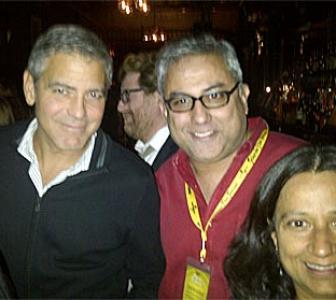 Partying with George Clooney!