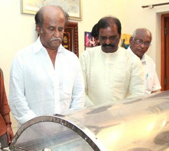 PIX: Rajinikanth pays respect to mentor K Balachander