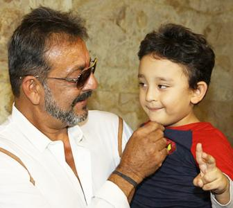 PIX: Sanjay Dutt watches PK with his family