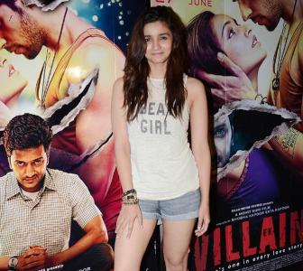PIX: Alia, Parineeti at Ek Villain screening