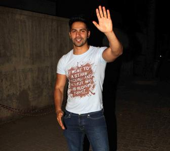 PIX: Ranbir, Parineeti party with Varun Dhawan