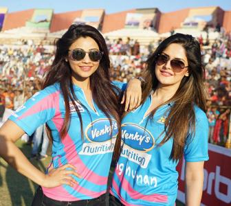 PIX: Daisy, Zarine, Salman spotted at celebrity cricket matches