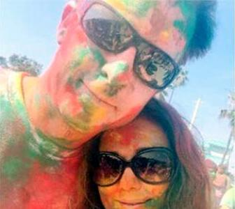 PIX: Preity Zinta's first Holi with her husband