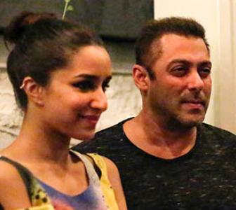 PIX: Tiger, Shraddha party with Salman