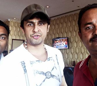 Spotted: Sonu Nigam in Chennai