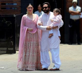 PIX: Kareena-Saif-Taimur at Sonam's wedding